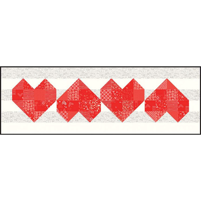 Arrow Heart Quilt and Table Runner Pattern