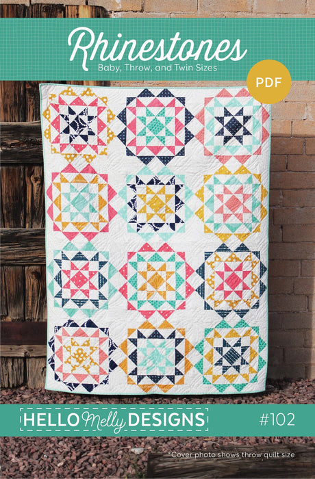 Hello Melly Designs Rhinestones Quilt Pattern