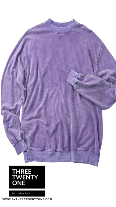 ONE LEFT SIZE L: Lavender • Oversized Sweater