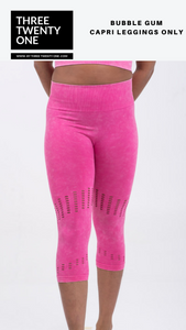 Shop stylish seamless pink soft high-waisted capri leggings