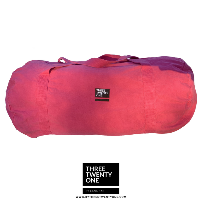 TWO LEFT: The Weekender • Unisex Duffel Bag (Fuchsia)