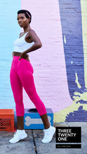 Load image into Gallery viewer, Pink Berry • Capri Leggings