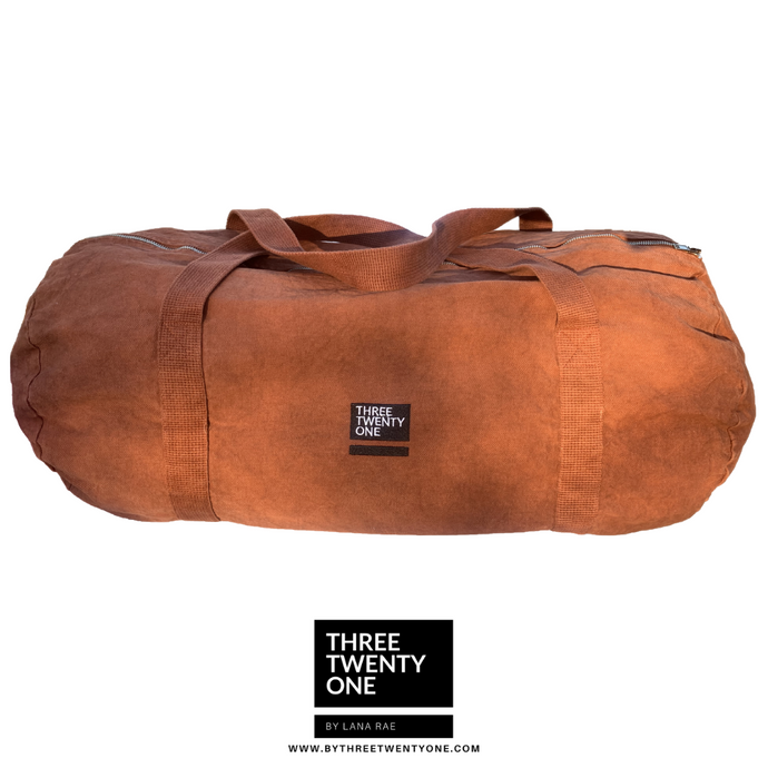 TWO LEFT: The Weekender • Unisex Duffel Bag (Chestnut)