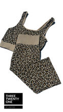 Load image into Gallery viewer, Wild Leopard  • Top & Biker Shorts