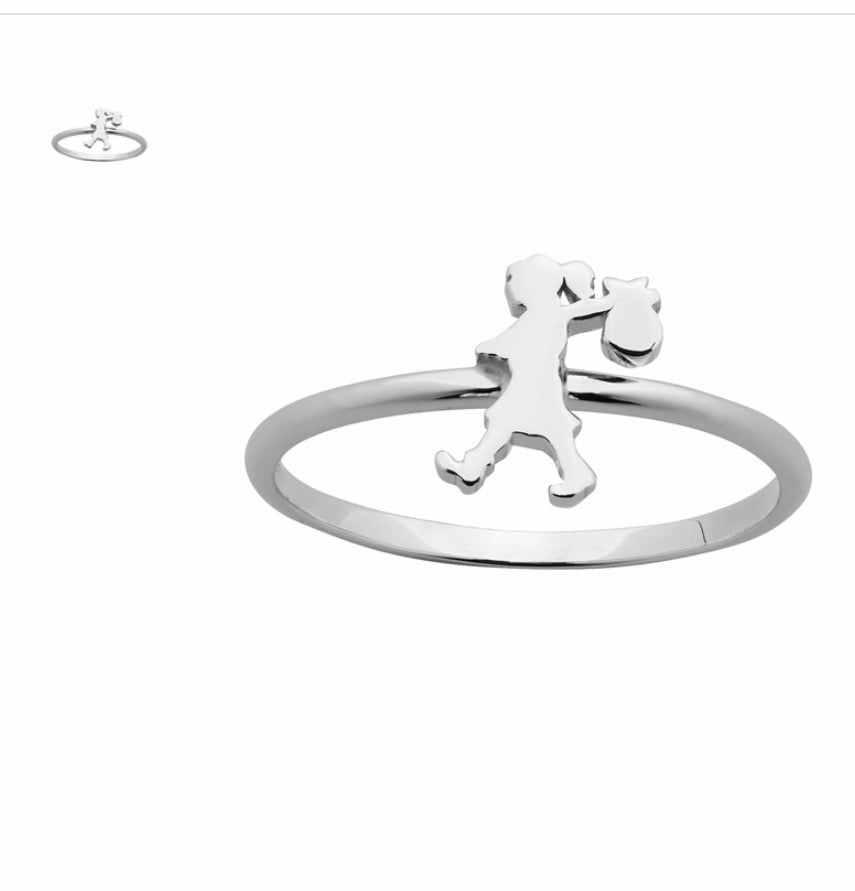 Karen Walker Mini Runaway Girl Ring Sterling Silver
