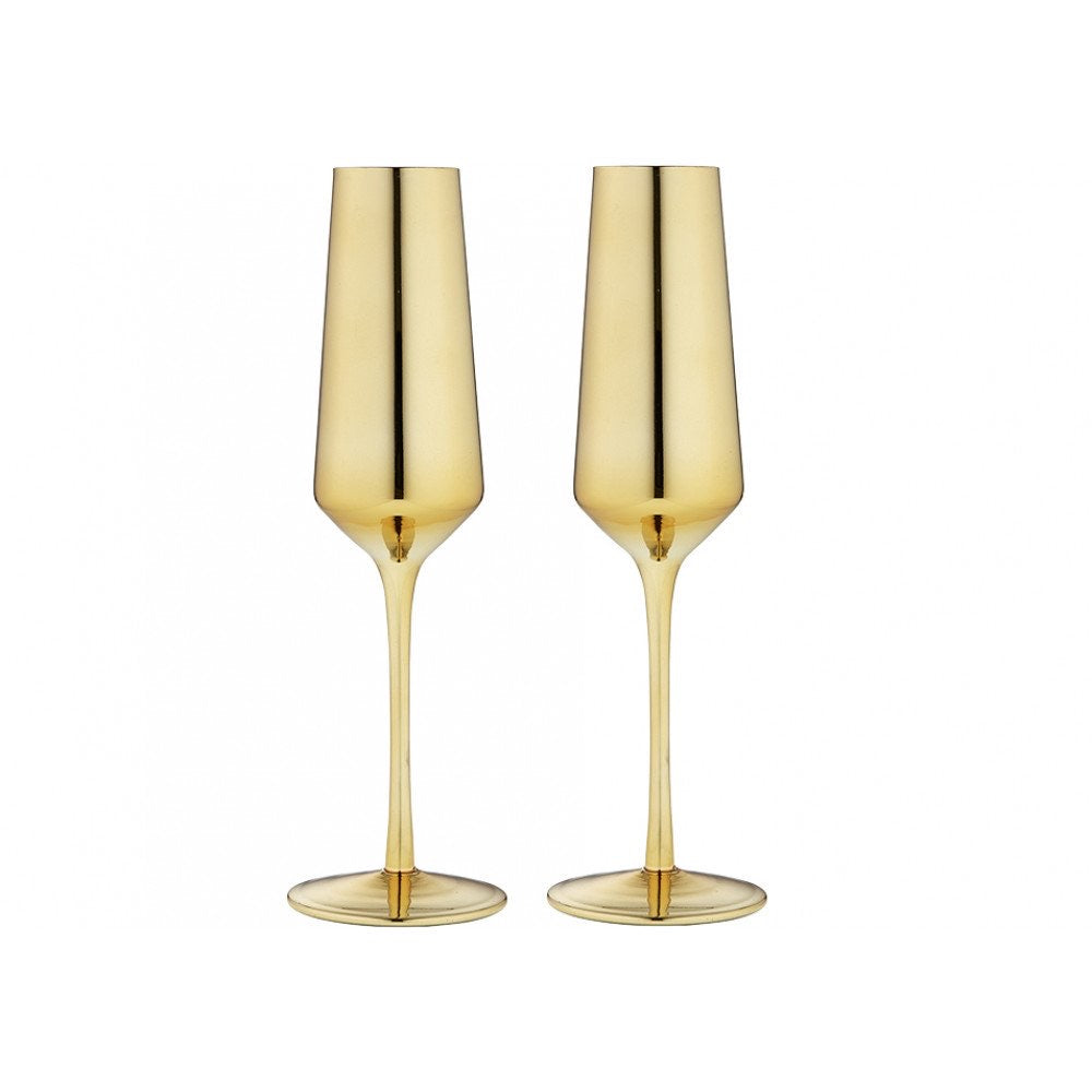 Aurora  Champagne Glasses Gold set of two