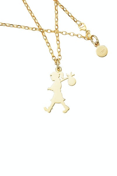 Runaway Girl Pendant. Large Karen Walker GOLD 9 crt