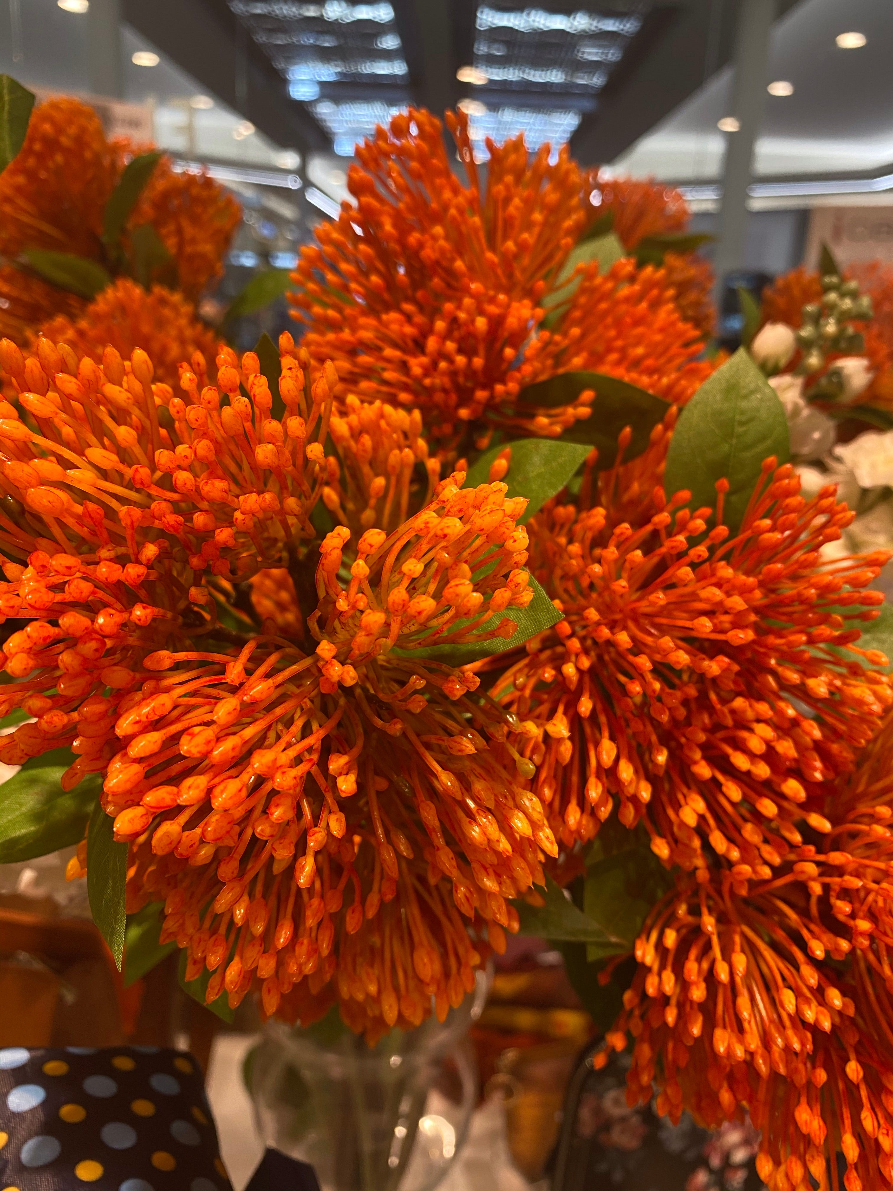 Artificial Flowers burnt orange