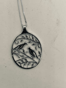 Bird Necklace Sterling Silver Flying Saucers brand