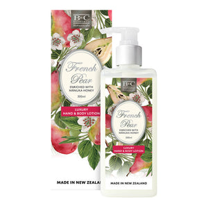 French Pear luxury Hand & Body Lotion Banks &. Co