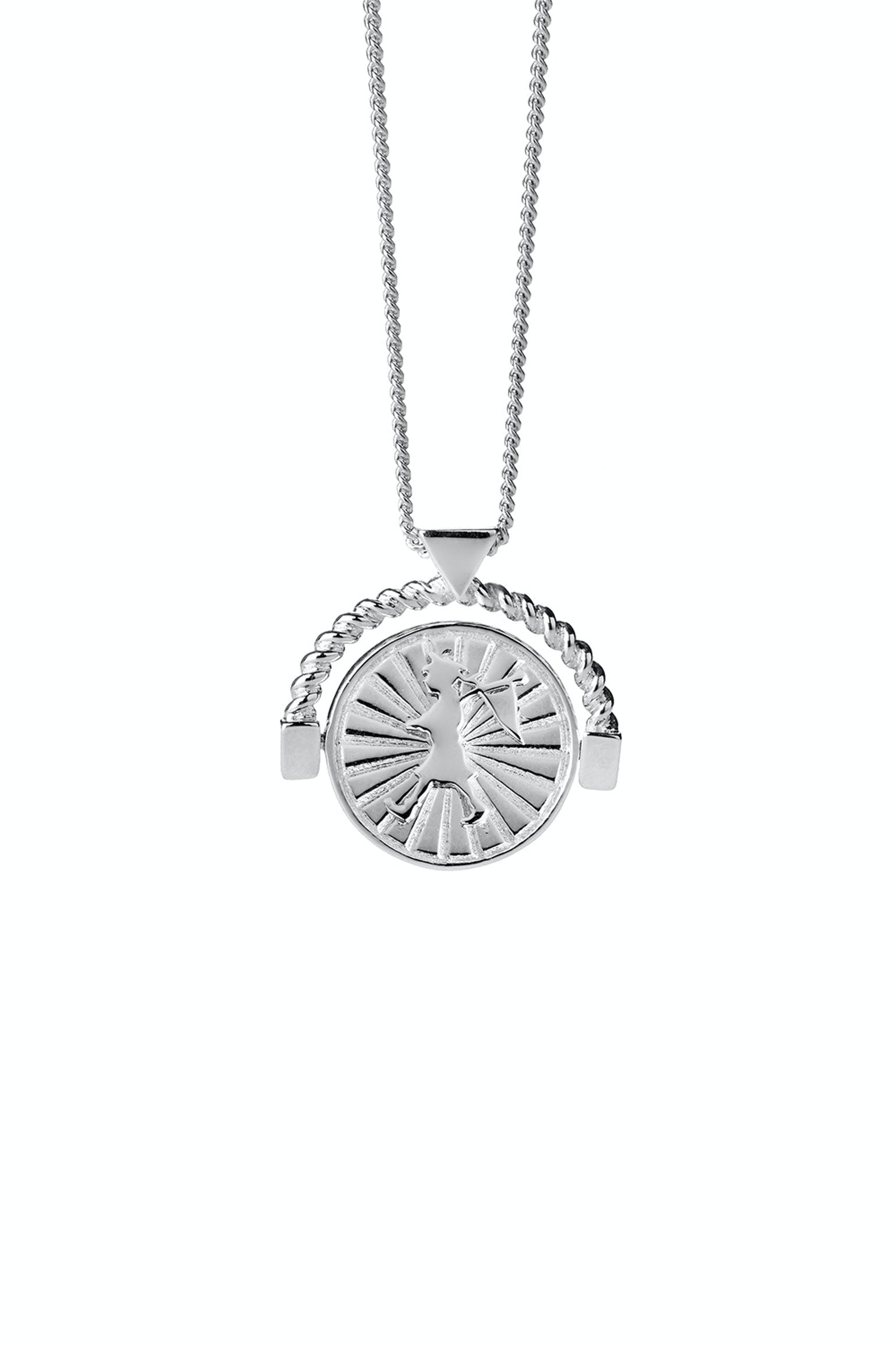 Voyager Spin Necklace Silver Karen Walker