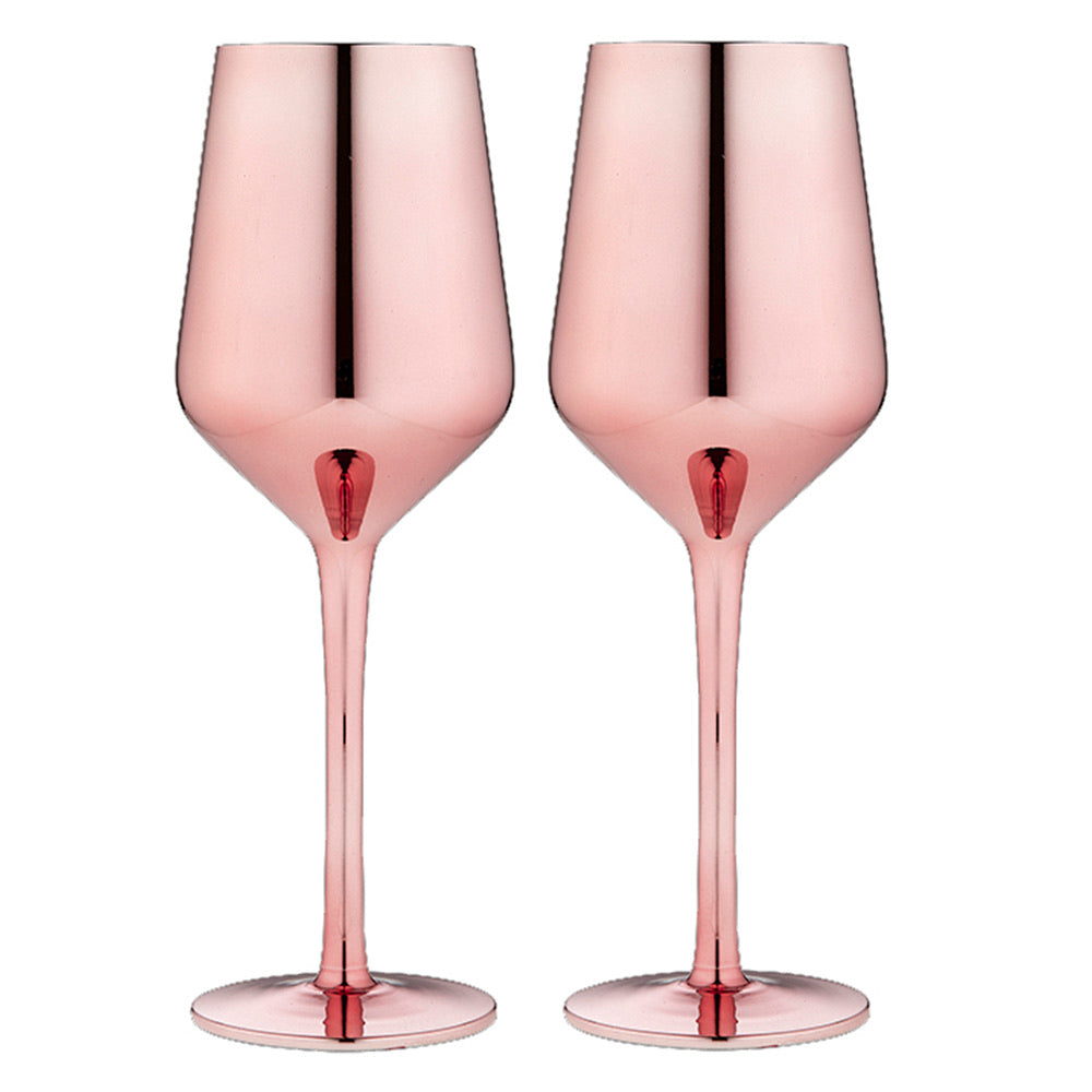 Aurora Wine Glasses Rose  Gold set of two