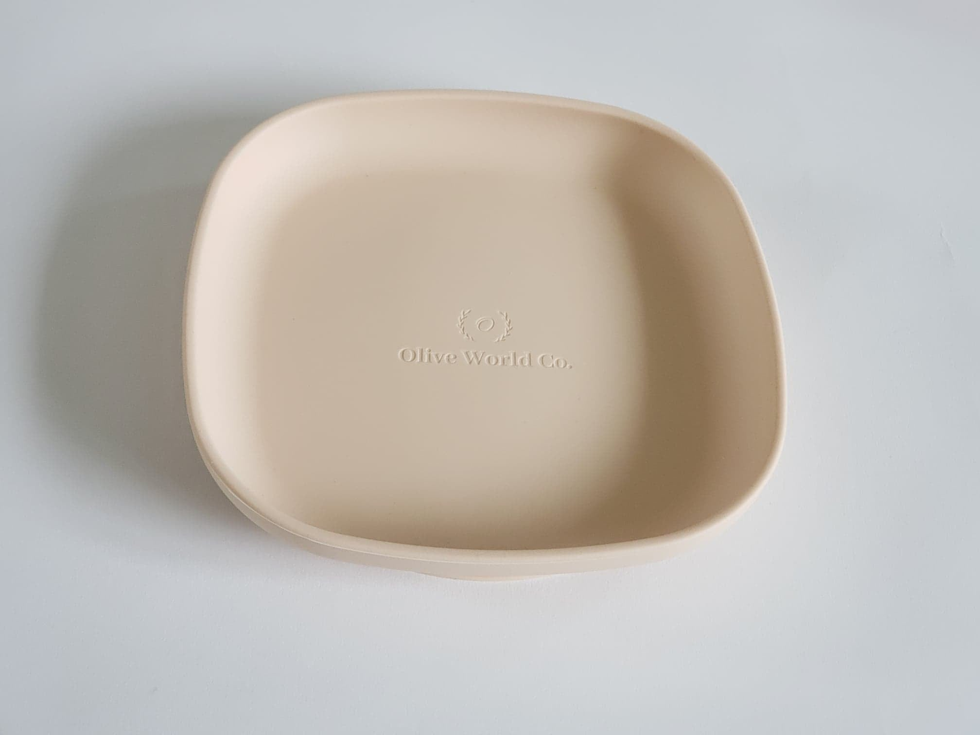 Buy online beautiful and functionable Silicone Suction Plate- Vanilla - OliveWorldCo