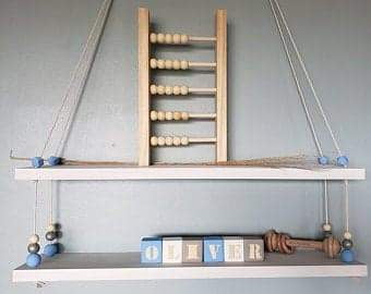 Buy online beautiful and functionable Wooden Swing Shelf (Double) | White - OliveWorldCo