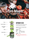 Fire Maple X3 Outdoor Backpacking Cooking System 2200W 0.8L 600g