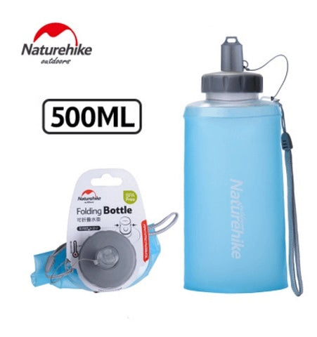 Naturehike 750ML Collapsible Foldable Silicone Sports Water Bottle