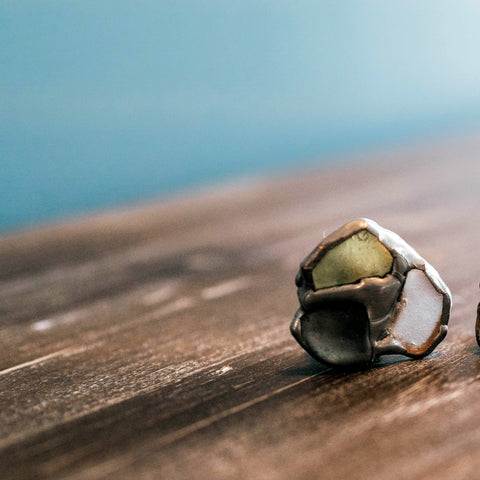 Sterling Silver + Sea Glass Ring