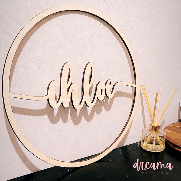 Personalised Name Wreath Hoop
