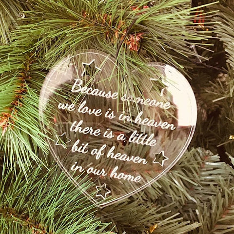 Memorial Heart Christmas Bauble