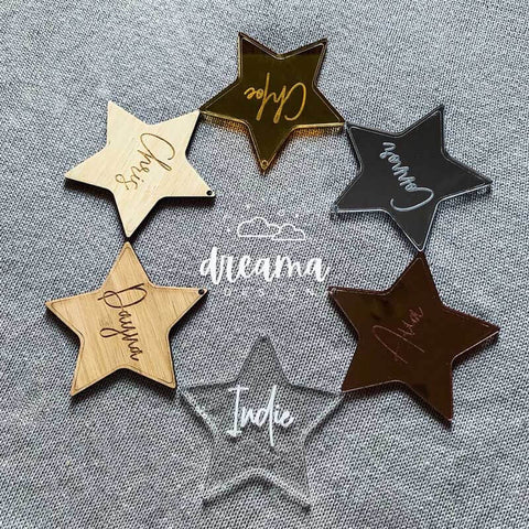 Personalised Star Christmas Baubles