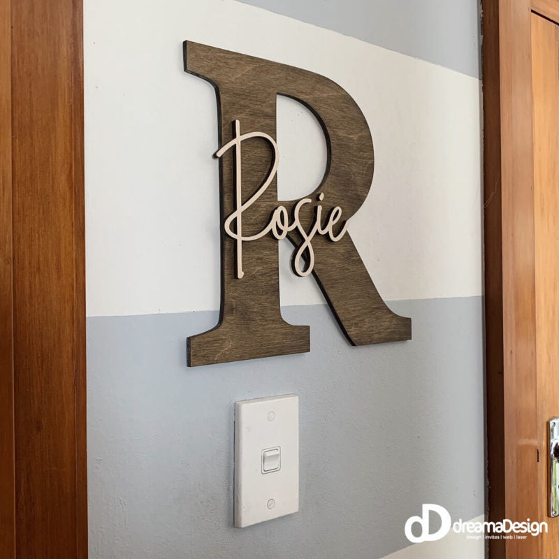 dreamaDesign - Layered Initial Wall Name