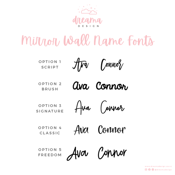 Mirror Acrylic Wall Name