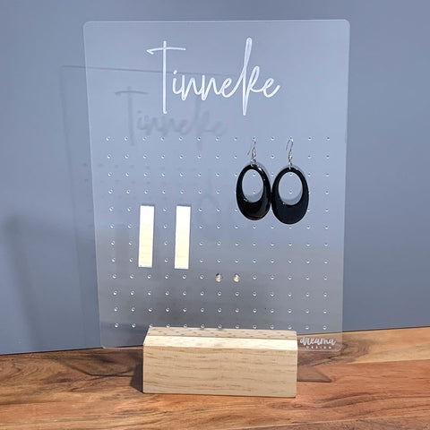 Personalised Rectangle Earring Organiser