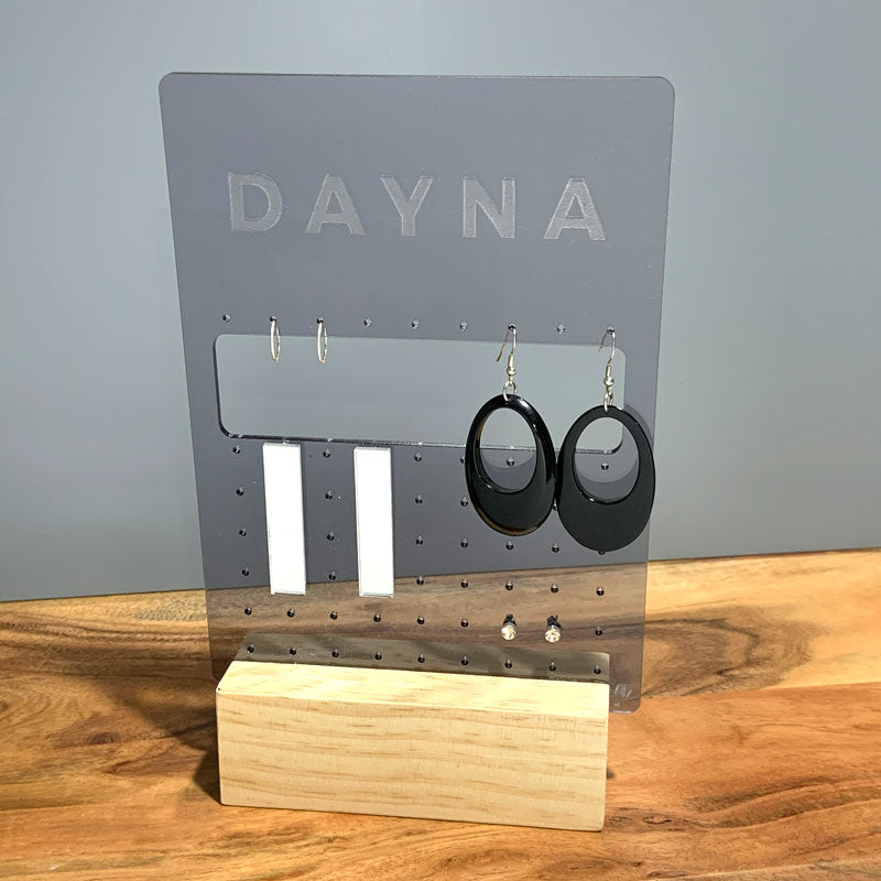 Personalised Rectangle Hoop Earring Organiser