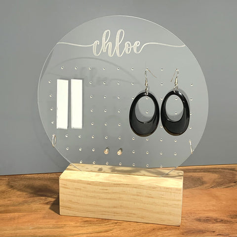 Personalised Round Stand Earring Organiser