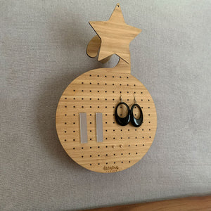 Round Hanging Earring Organiser & Holder