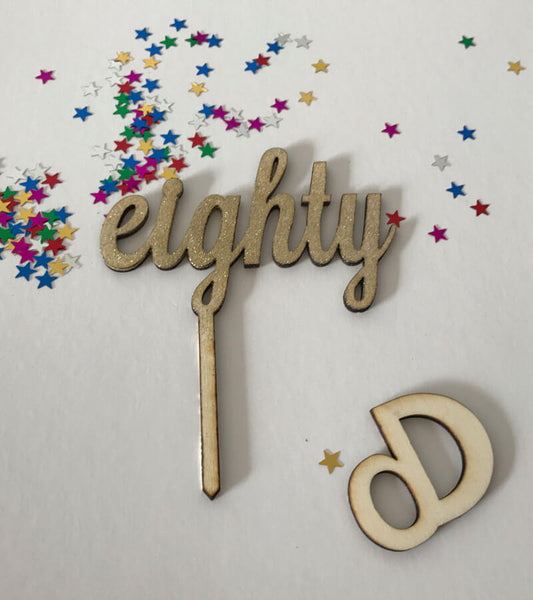 The Number Cake Topper