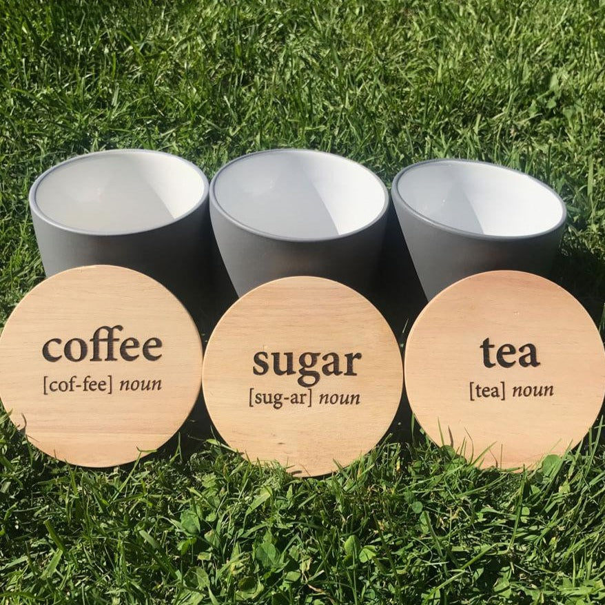 Definition Coffee Tea Sugar Jars