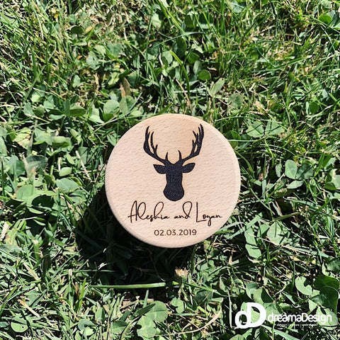 Stag Head Wedding Ring Box