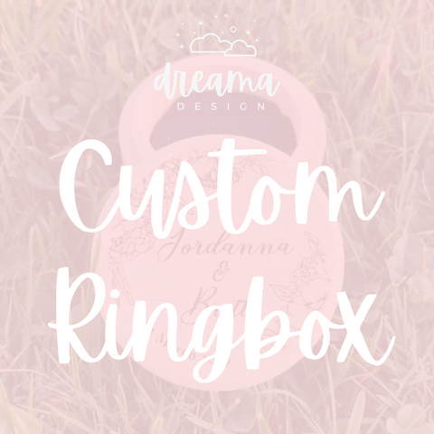 Custom Wedding Ring Box
