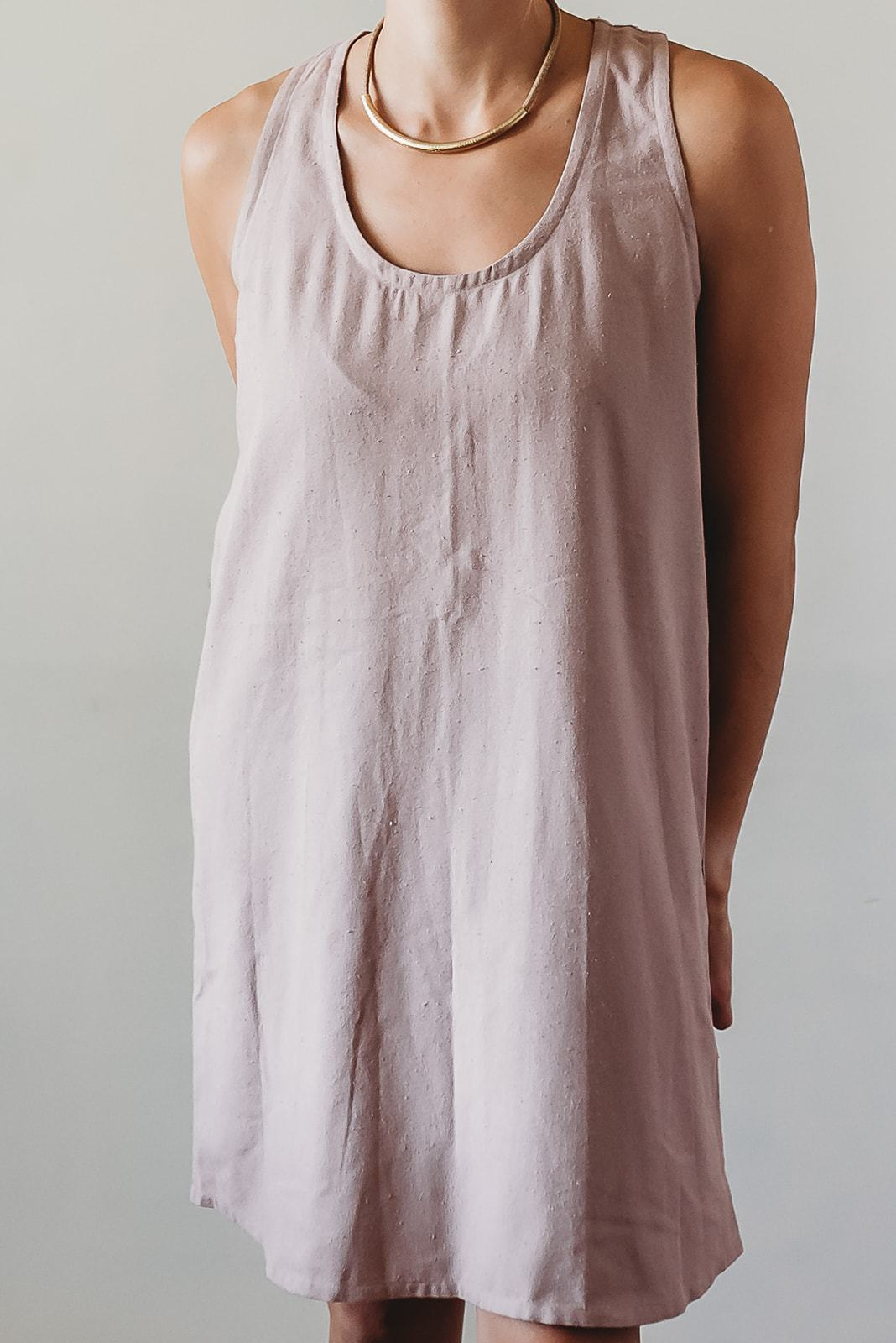 SAM raw silk dress, blush