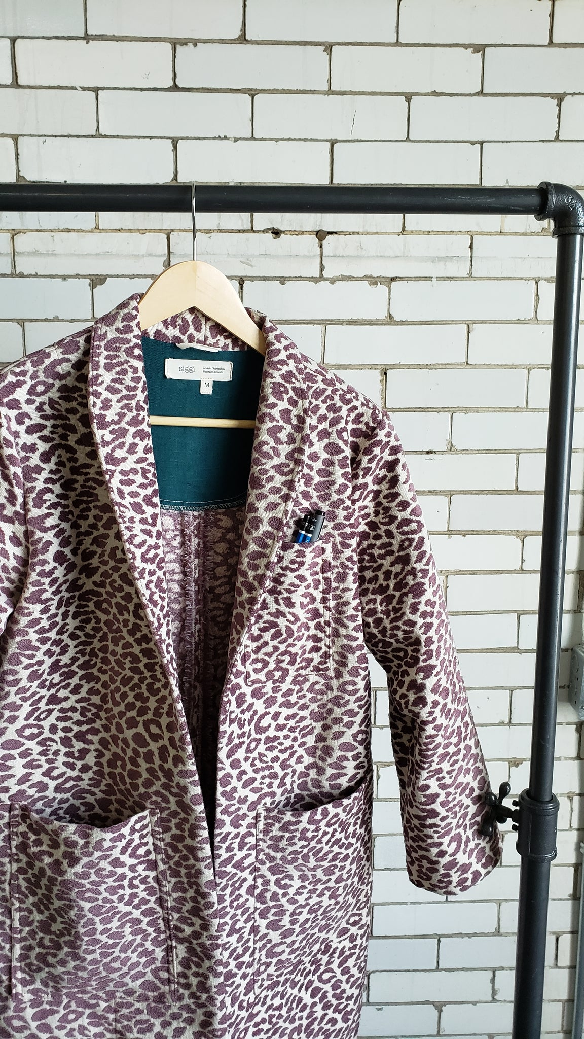INGRID labcoat, purple leopard
