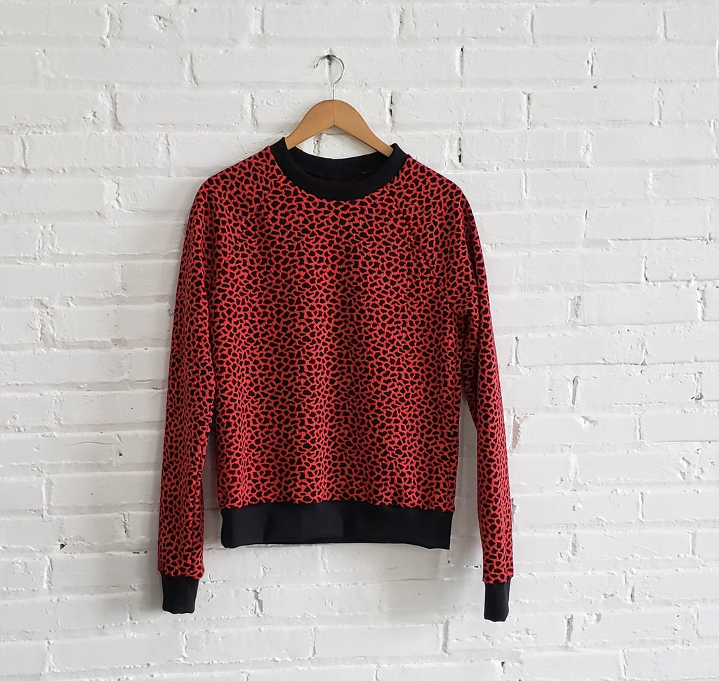 Sweatshirt, Cherry Red