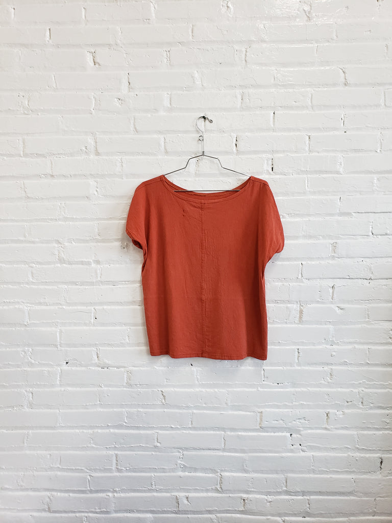 tee, orange tencel, size S/M