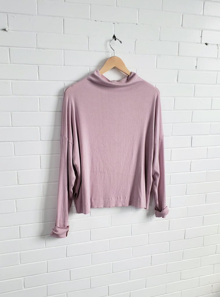 Funnel Neck Sweater, Lilac