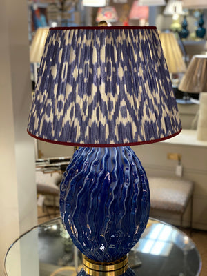 Dianthus Large Table Lamp in Flowing Blue