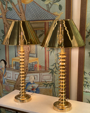 Zephyr Table Lamp, Brass