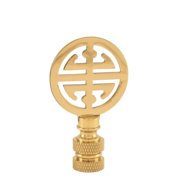 Small Polished Brass Good Luck Finial