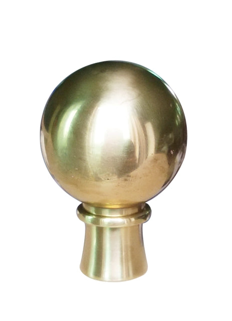 Solid Brass Ball Small Finial