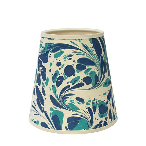Blue & Green Modern Swirl Lampshade