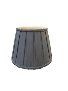 British Empire- Slate - Box Pleat Lampshade