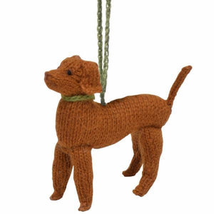 Hand Knit Vizsla Ornament