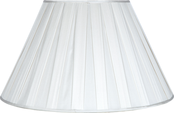 Silk Box Pleat Snow Lampshade