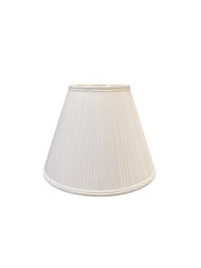 Empire - Narrow Side Pleat - White Lampshade