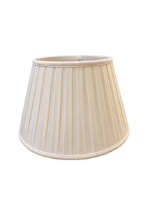 Empire Box Pleat - White Ivory Linen Lampshade
