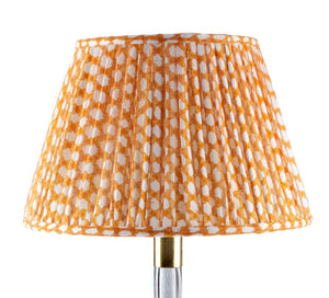 Fermoie Orange Wicker Lampshade